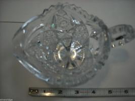 Heavy cut glass creamer no makers mark depression image 4
