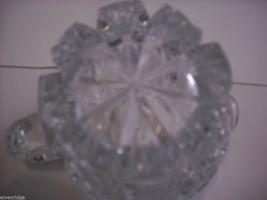 Heavy cut glass creamer no makers mark depression image 2