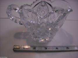Heavy cut glass creamer no makers mark depression image 5