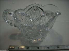 Heavy cut glass creamer no makers mark depression image 6