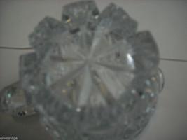 Heavy cut glass creamer no makers mark depression image 7