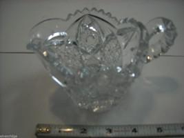 Heavy cut glass creamer no makers mark depression image 9
