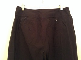 Heather Black Casual Pants High Quality Fabric Size 1X Side and Back Pockets image 5