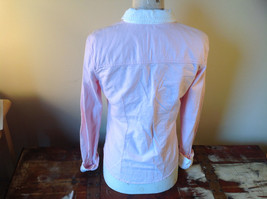 Abercrombie Fitch Light Pink Button Up White Accent Shirt Long Sleeve Size M image 3