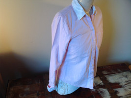 Abercrombie Fitch Light Pink Button Up White Accent Shirt Long Sleeve Size M image 2
