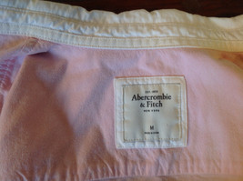 Abercrombie Fitch Light Pink Button Up White Accent Shirt Long Sleeve Size M image 6