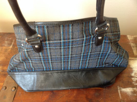 Heritage Collection by Bass Large Practical Dark Blue Gray Purse Many Pockets image 3