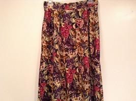 Herman Geist 100 Percent Cotton Size 10 Floral Corduroy Casual Skirt image 2