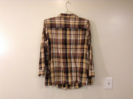 Long Sleeve Multicolored Plaid Button Up Collared Maggie Barnes Shirt Size 18W image 2