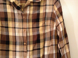 Long Sleeve Multicolored Plaid Button Up Collared Maggie Barnes Shirt Size 18W image 4