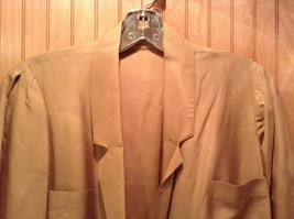 Long Brown Long Sleeved Dress One Button One Clasp Two Pockets Ties at Waist image 3
