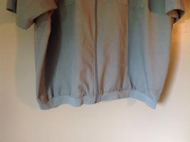 Lions Den Blue Light Gray Short Sleeve Zipper Closure Casual Shirt Size XXL image 3