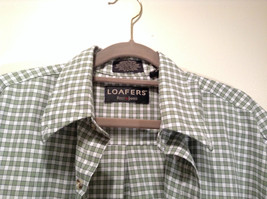Loafers Reed and James Short Sleeve Plaid Green Casual Shirt Size Medium image 2