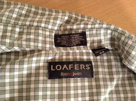 Loafers Reed and James Short Sleeve Plaid Green Casual Shirt Size Medium image 8