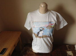 Jerzees White T-Shirt Ogunquit Maine Sea Bird Lighthouse Graphics Size Small image 1