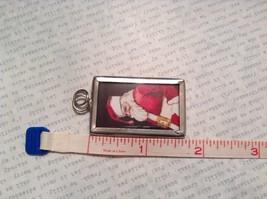 Ho Ho Ho Santa Charm Present Tie On Versatile Reversible Tag Metal Glass Tag image 3