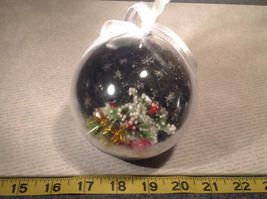 Holiday Christmas miniatures in snow encrusted winter scene ornament image 6