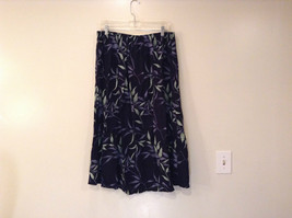 Jessica Stevens Skirt Black with Leaves Pattern Elastic Waist Size 2X