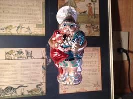 Holiday Glass  Ornament Santa w Blue Seahorse Pink Flamingo Department 56 image 3