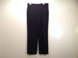 Jet Black Dress Pants Aquis Size 42 Made in France Front Button Zipper Closure