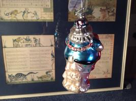Holiday Glass  Ornament Santa w Blue Seahorse Pink Flamingo Department 56 image 4