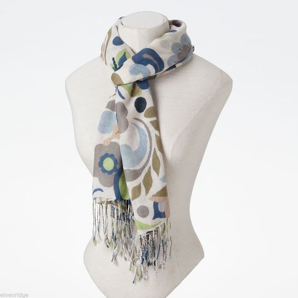 Jim Shore Gracie Butterfly Paisley Scarf in Soft Viscose