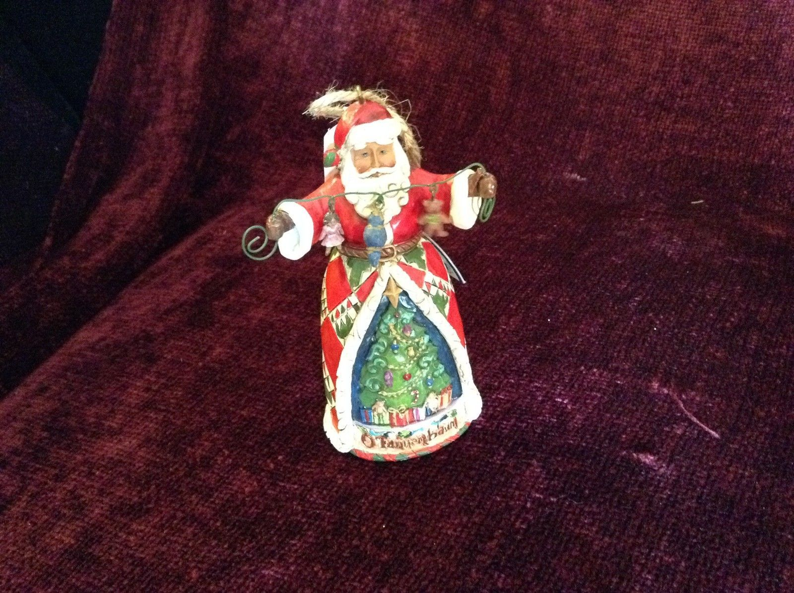 Jim Shore Heartwood Creek Santa Claus Figurine Toys and Christmas Tree