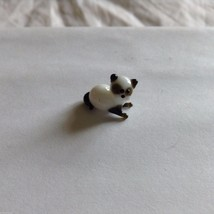 Micro Miniature small hand blown glass SIAMESE cat  lying down made USA NIB