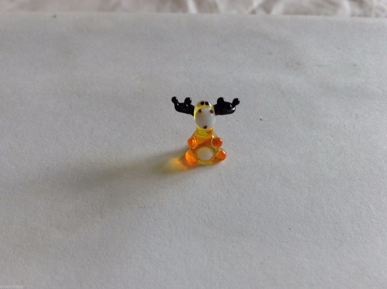 Micro Miniature hand blown glass made USA little yellow moose