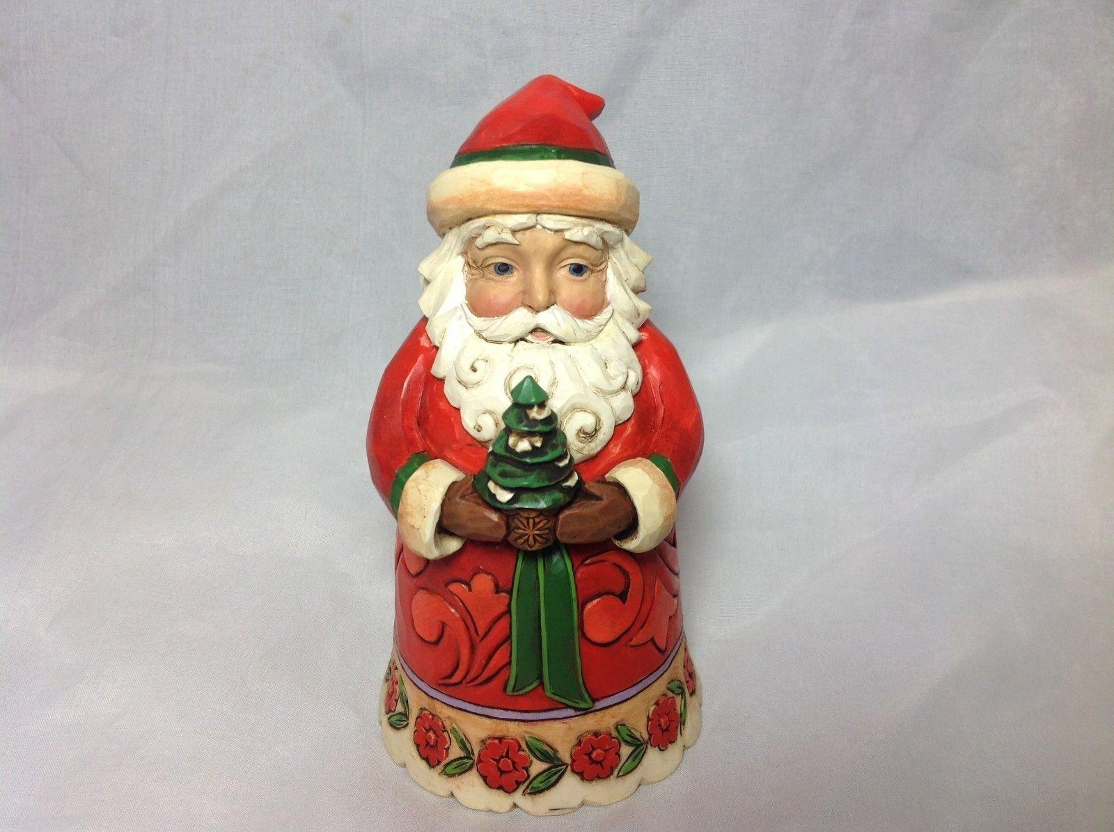 Jim shore Pint Size Santa holding Pine Tree Christmas Cheer Given here New w Box