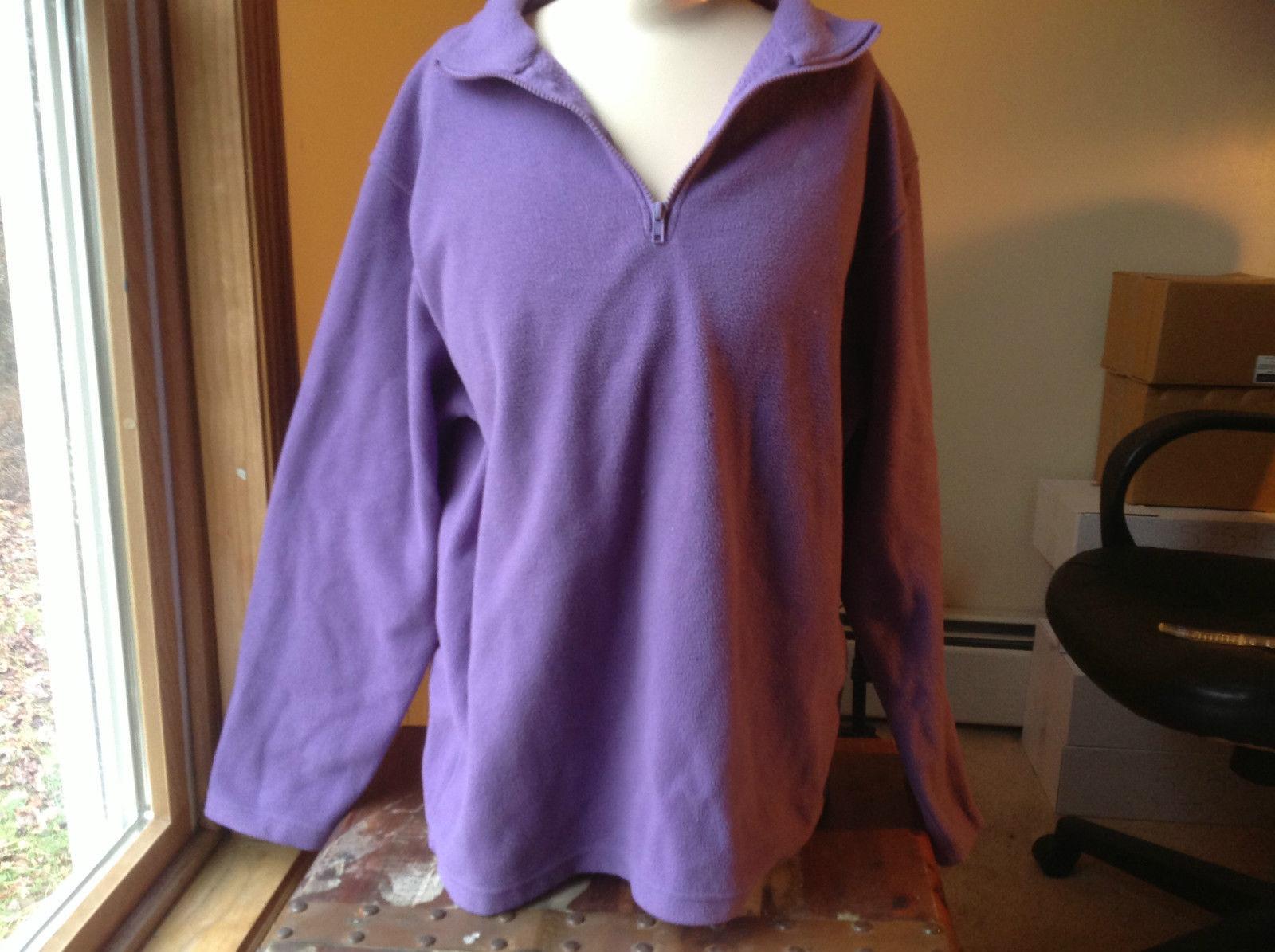John Lauren Flannel purple pullover womans longsleeve  sweatshirt size L