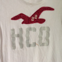 Hollister White Graphic T Shirt 100 Percent Cotton Short Sleeves Size Small image 2