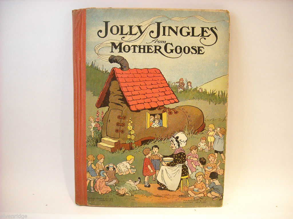 Jolly Jingles from Mother Goose Antique Children's Hard Cover Book