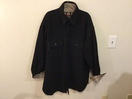 Johnson Woolen Mills Mens Black Coat Size Unknown, See Measurements