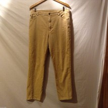 Jones New York Womans Tan Corduroy Pants, Size 14