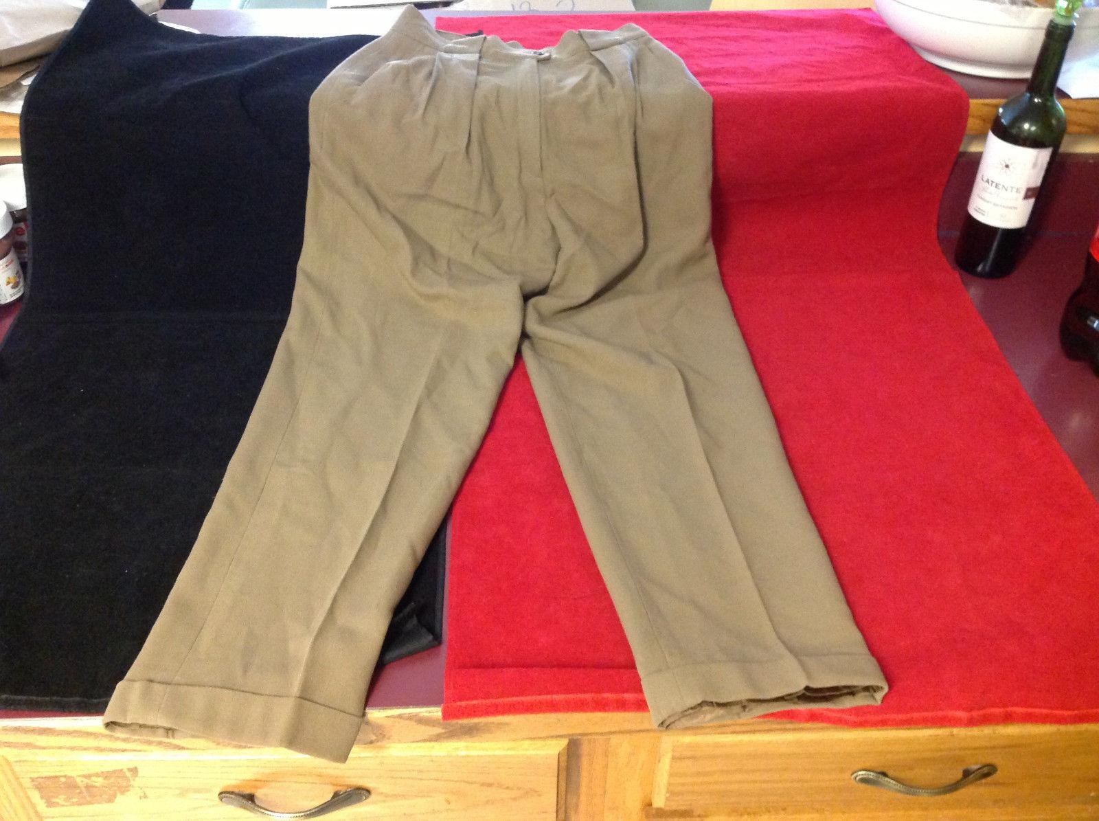 Jones New York Womens Petite Wool Casual Dress Pants Slacks Light Brown size 6P