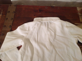 Long Sleeve White Ralph Lauren Collared with Buttons Polo Shirt image 3