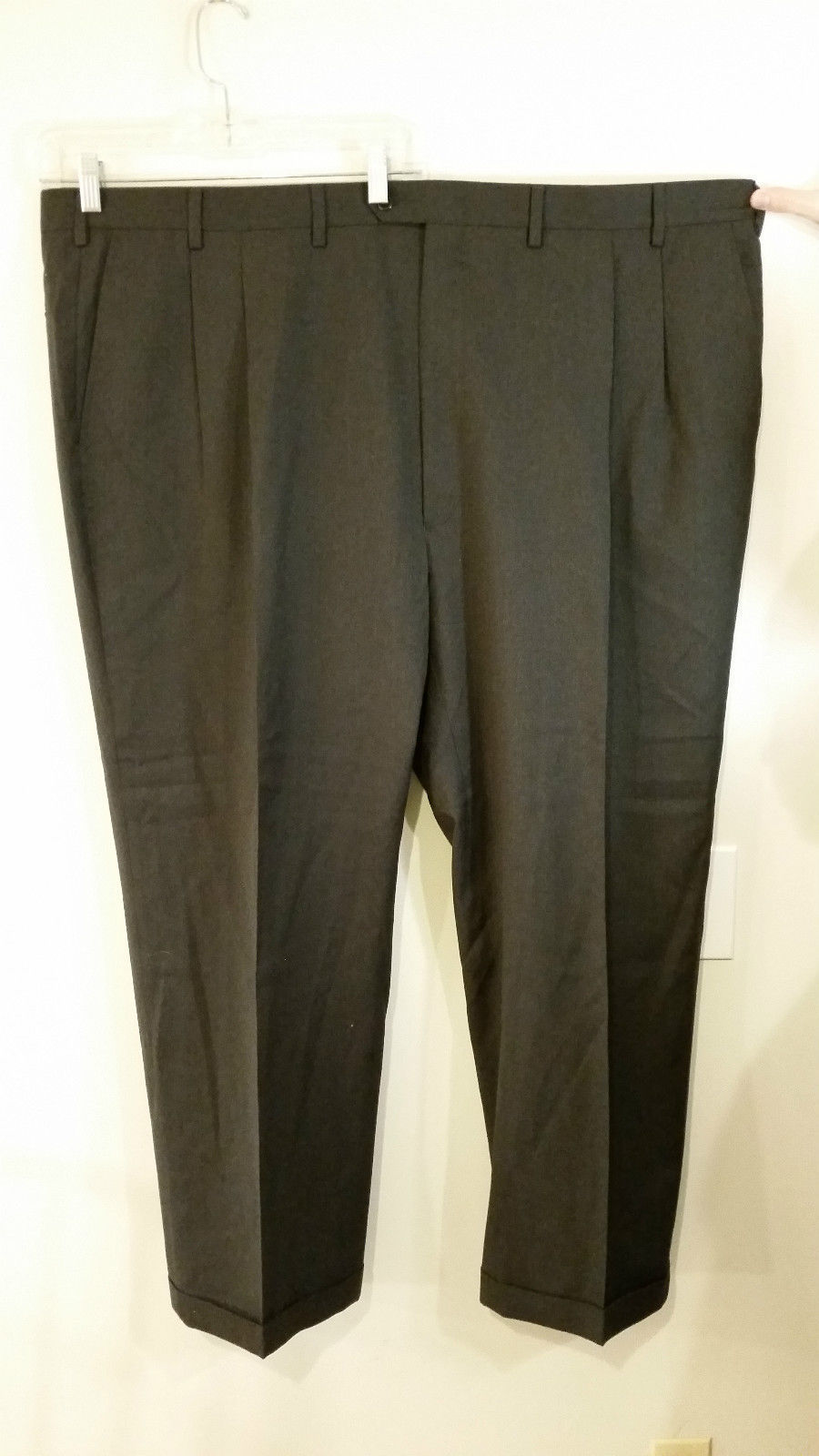 Jos A Bank Executive Collection Black Pleated Front Dress Pants No Size Tag