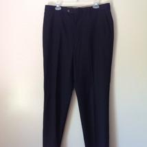 Joseph Abboud Pleated Black Dress Pants 100 Percent Wool Size 35R