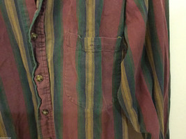 Lord & Taylor Mens Multicolor Striped Button Down 100% cotton Casual Shirt image 2