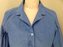 Lovely Eddie Bauer Blue Button Up Dress Shirt Made in Thailand Size Medium image 2