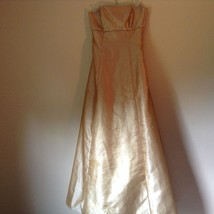 Jump by Wendy Chaitin Made in USA Golden Peach Gown Strapless Dress Size 7 to 8