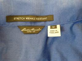 Lovely Eddie Bauer Blue Button Up Dress Shirt Made in Thailand Size Medium image 7