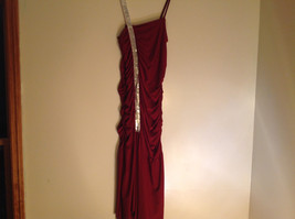 Juniors Deep Red Sequin Strap Rouched Design Formal Dress by E K Size Medium