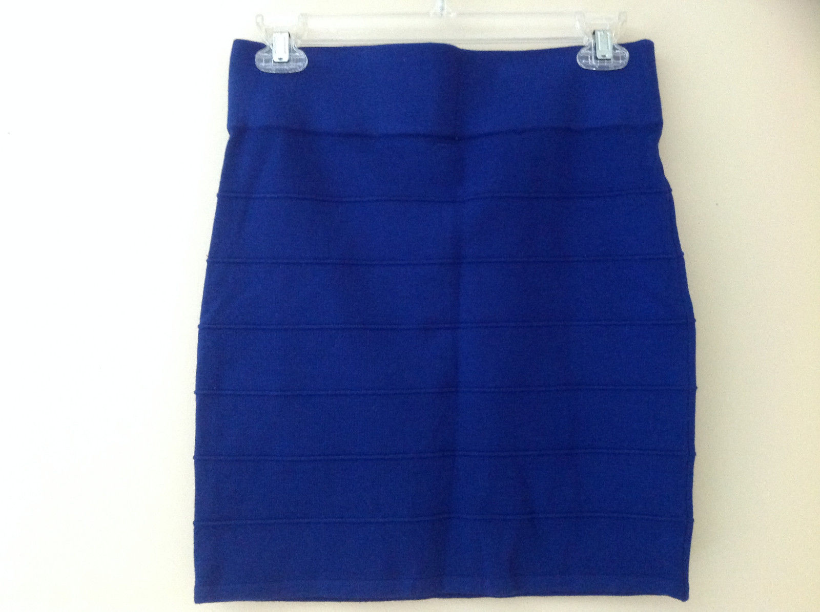 Juniors Blue Bodycon Above the Knee Skirt Wide Waistband Forever 21 Size Large