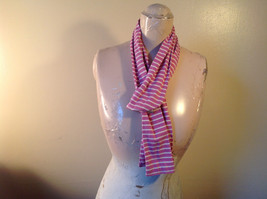 Adorable Striped Light Pink and White L.L. Bean Cloth Scarf 70 Inches Long image 4