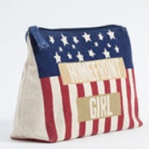 Homefront Girl travel cosmetic bag red white and blue image 2