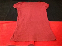 Abercrombie & Fitch short sleeve color maroon image 6