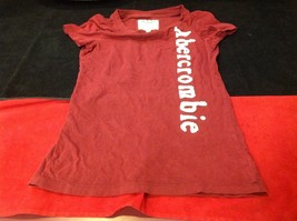 Abercrombie & Fitch short sleeve color maroon image 5