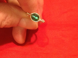 Homemade 6 and 1/4 Ring Wrap germanium to prevent tarnish Teal Torquoise Silver image 5